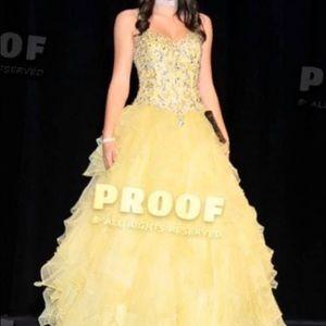 Gorgeous Yellow Mori Lee